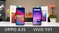 Perbandingan Oppo A3S dan Vivo Y91