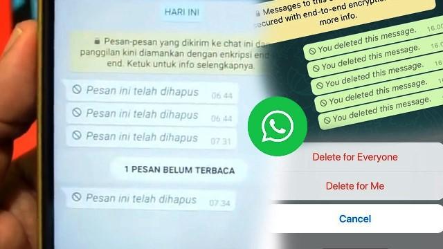 Cara Menarik Pesan di WhatsApp